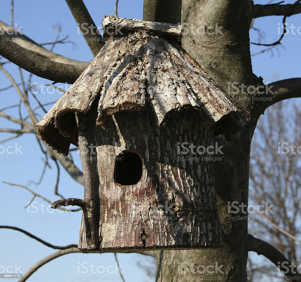 Bird House - Wood royalty-free stock photo