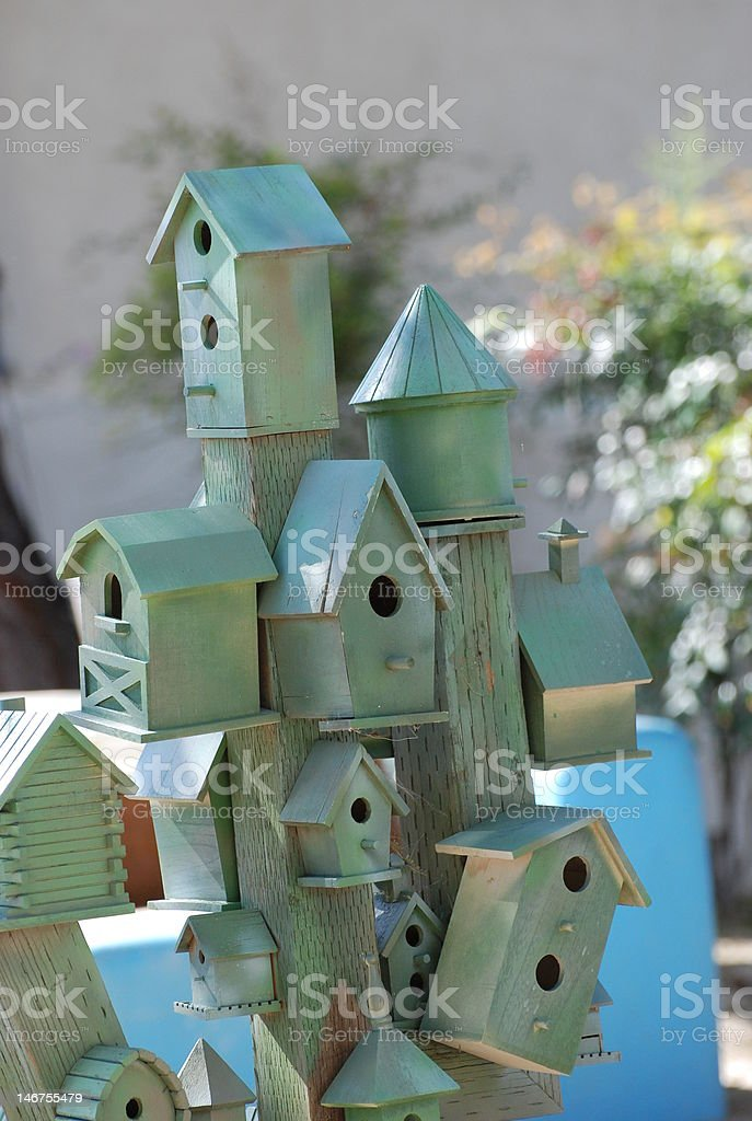 Bird Houses royalty-free stock photo