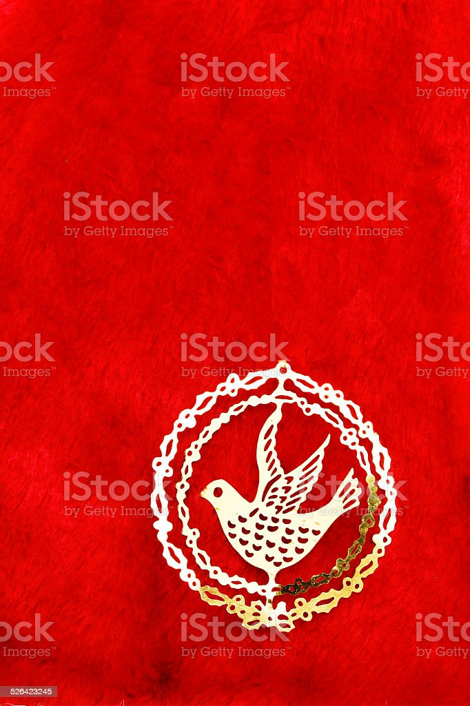 Bird in red stock photo
