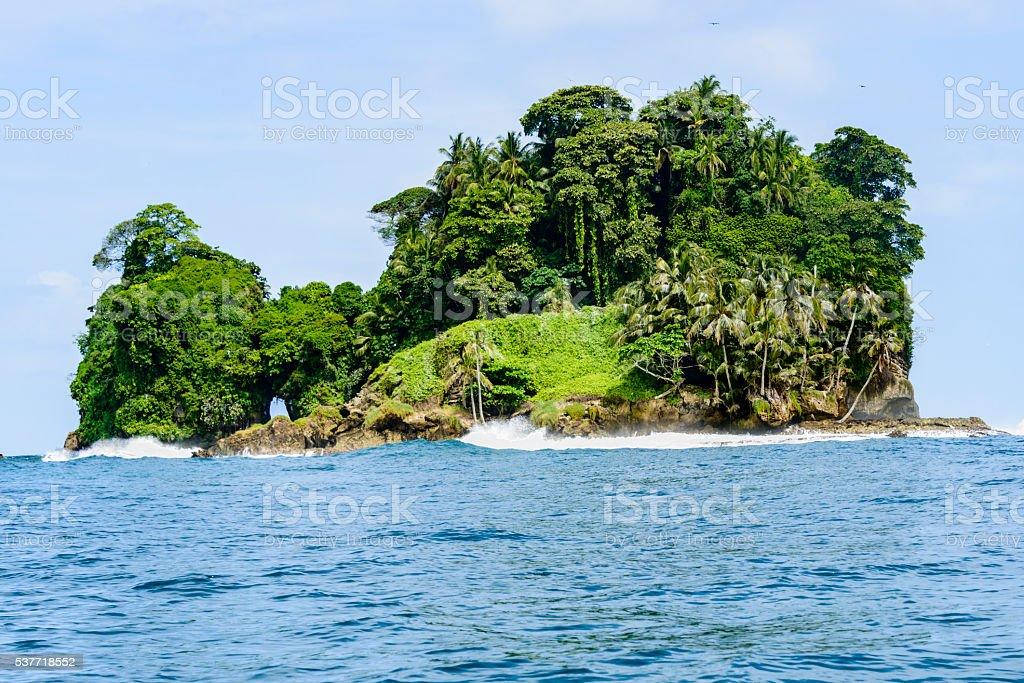 Bird Island (Isla de Pajaros) off the coast of Panama stock photo