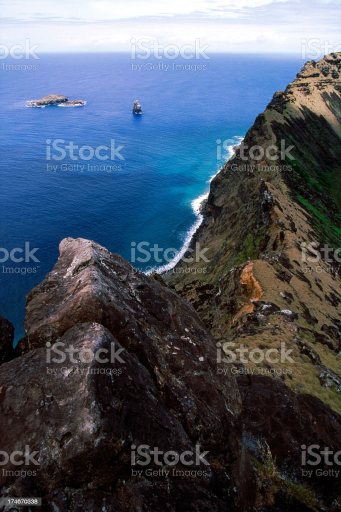 Bird Islands and Rano Kao stock photo
