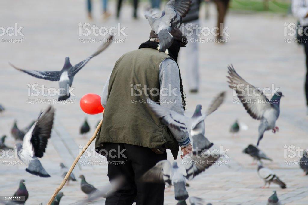 Bird Man stock photo