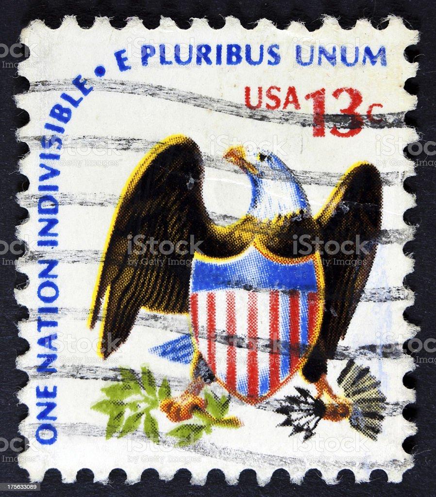 USA Bird on a stamp royalty-free stock photo