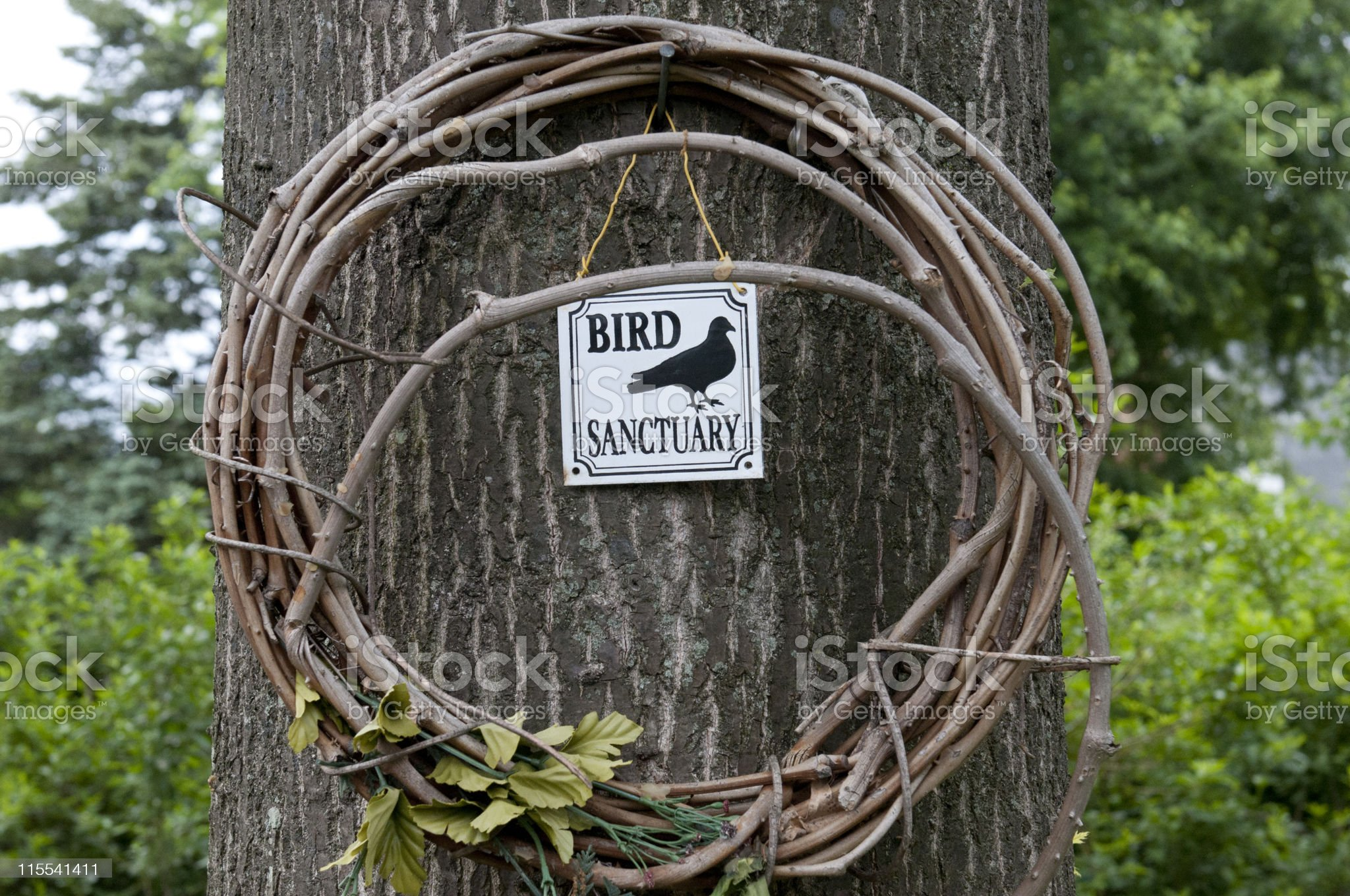 Bird Sanctuary Sign royalty-free stock photo
