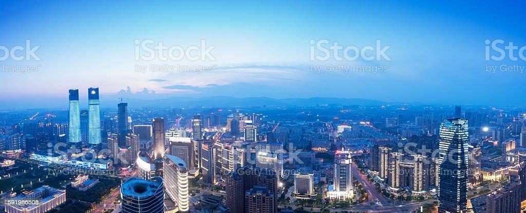Bird view at Nanchang China stock photo