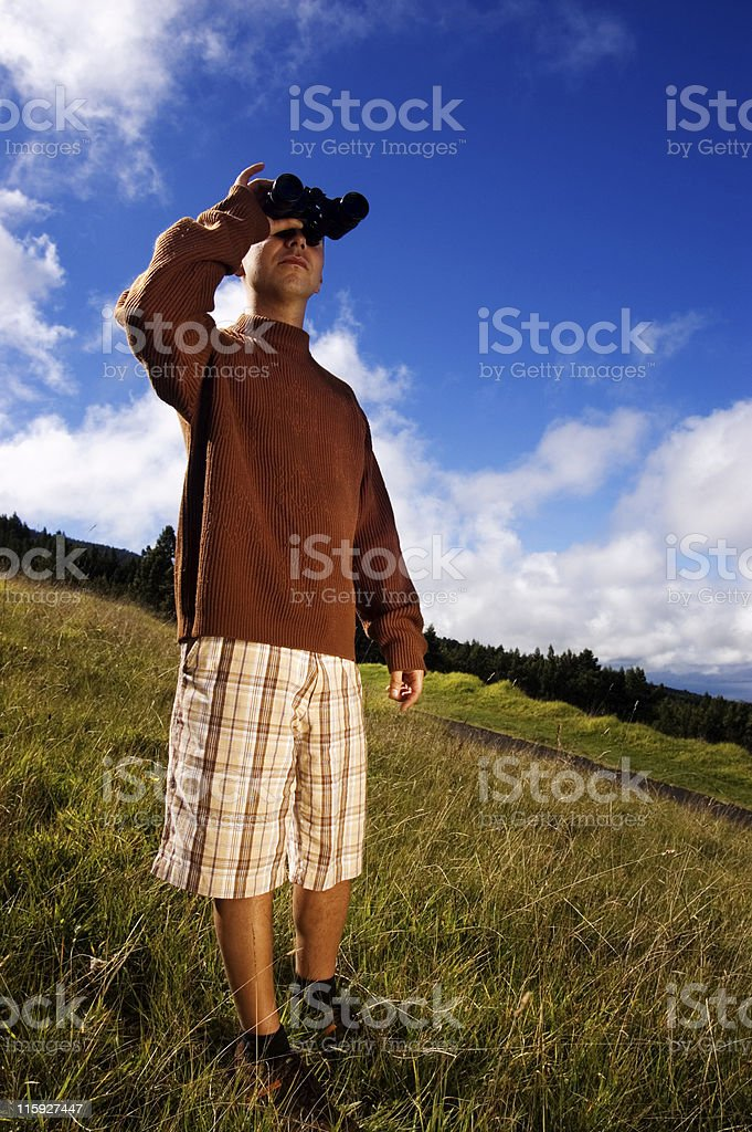 Bird Watching. stock photo