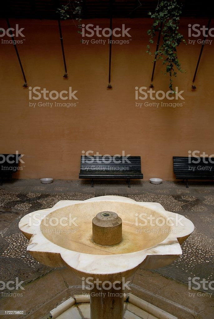 Birdbath at the Alhambra royalty-free stock photo