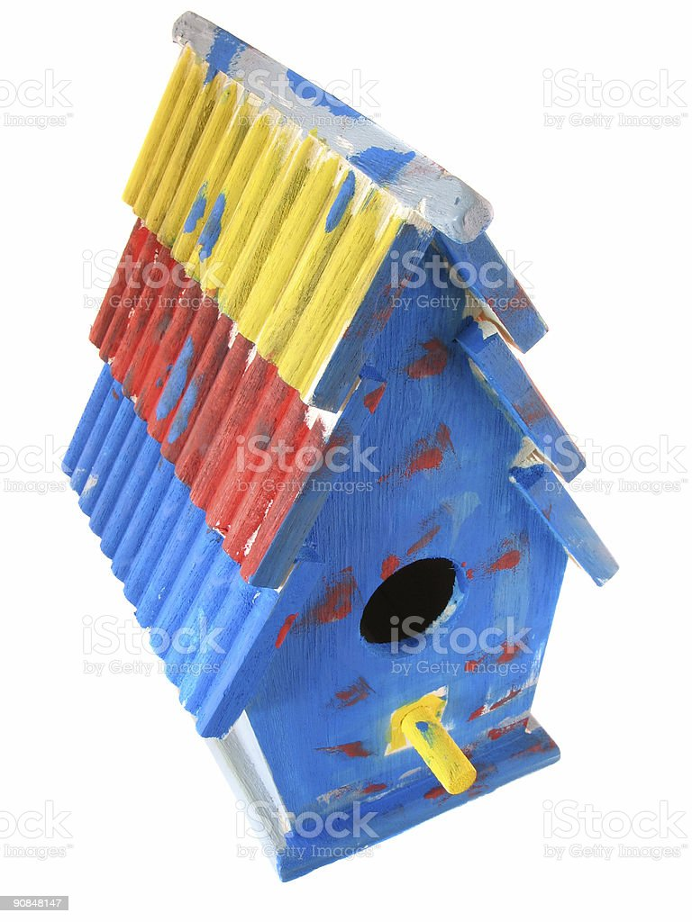 Birdhouse Arts and Crafts Project royalty-free stock photo