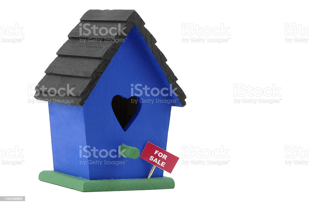 Birdhouse For Sale royalty-free stock photo