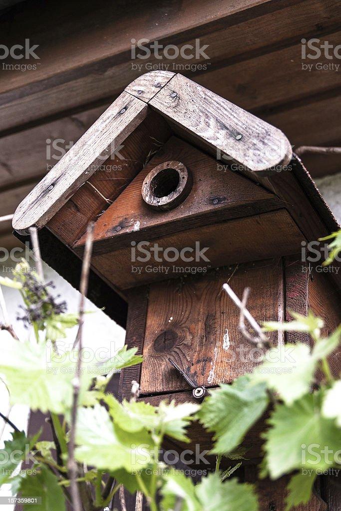Birdhouse, handmade stock photo