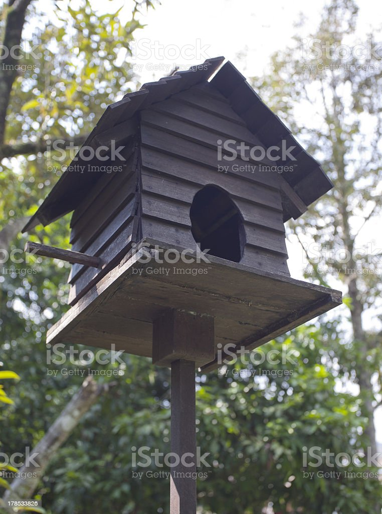 Birdhouse In A Forest royalty-free stock photo