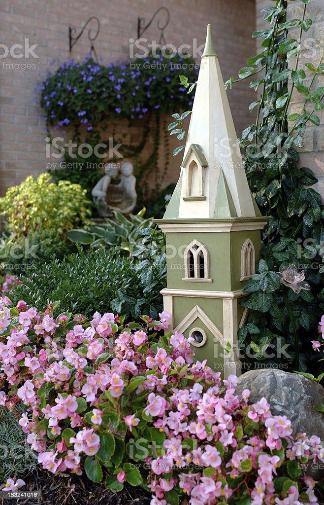 Birdhouse in the Garden royalty-free stock photo