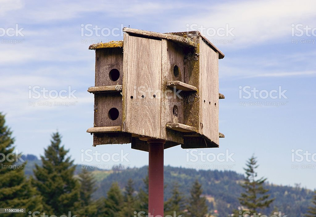 Birdhouse in the Mountains royalty-free stock photo