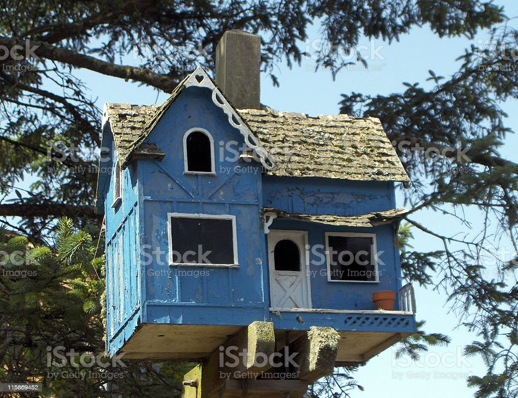 Birdhouse in the Trees royalty-free stock photo