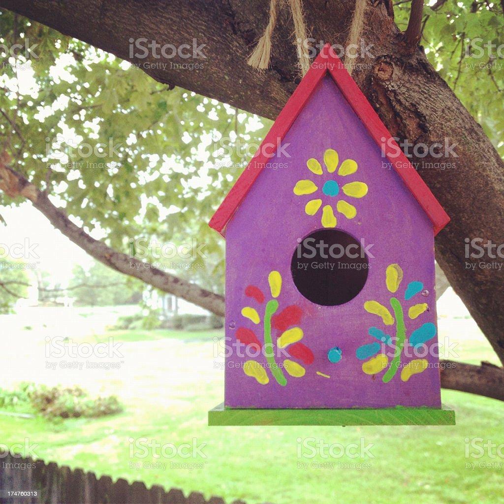 Birdhouse in Tree royalty-free stock photo