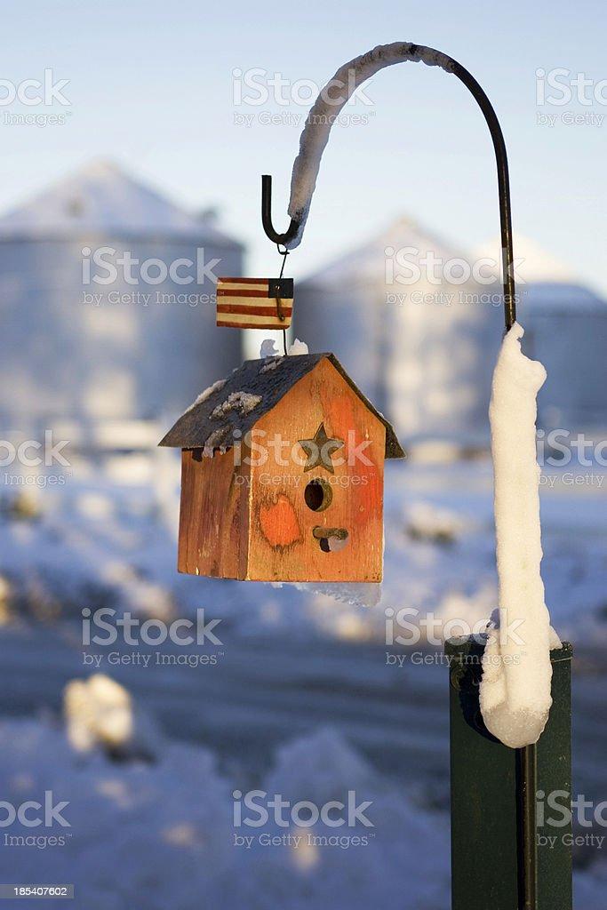Birdhouse in Winter royalty-free stock photo