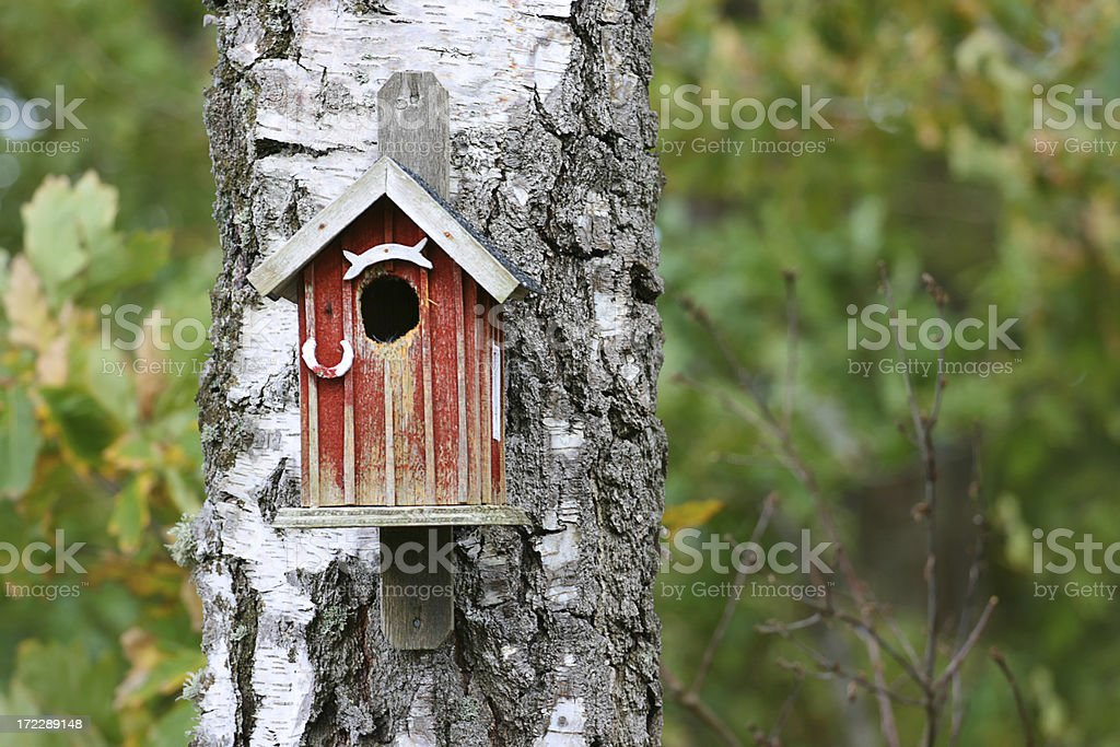 Birdhouse royalty-free stock photo