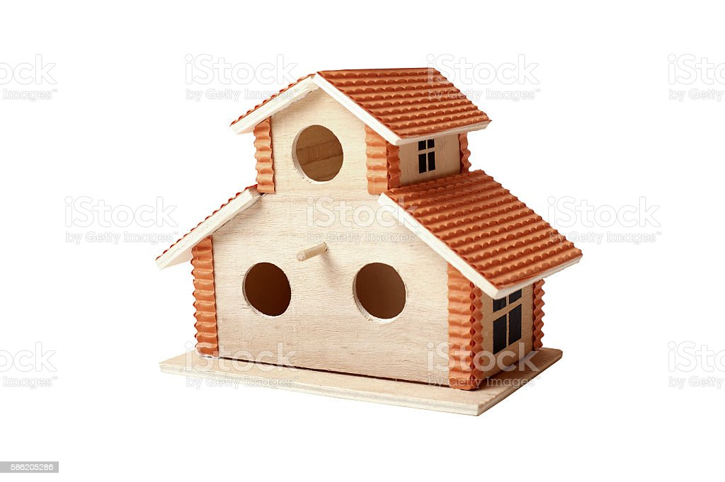 Birdhouse with clipping path stock photo