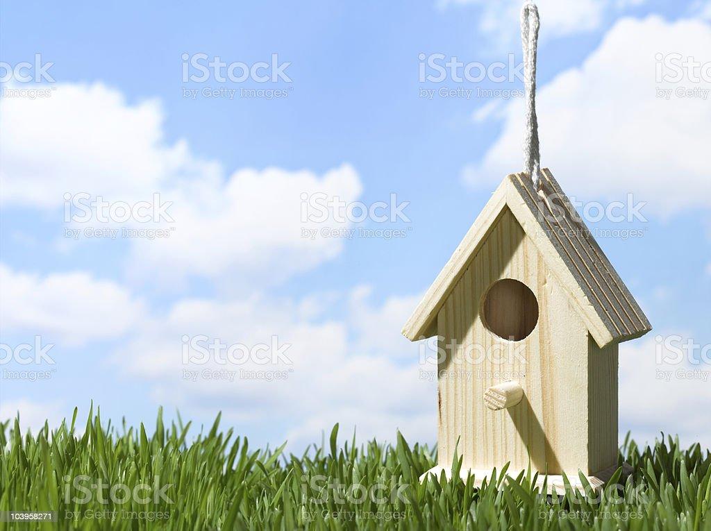 birdhouseingrass royalty-free stock photo