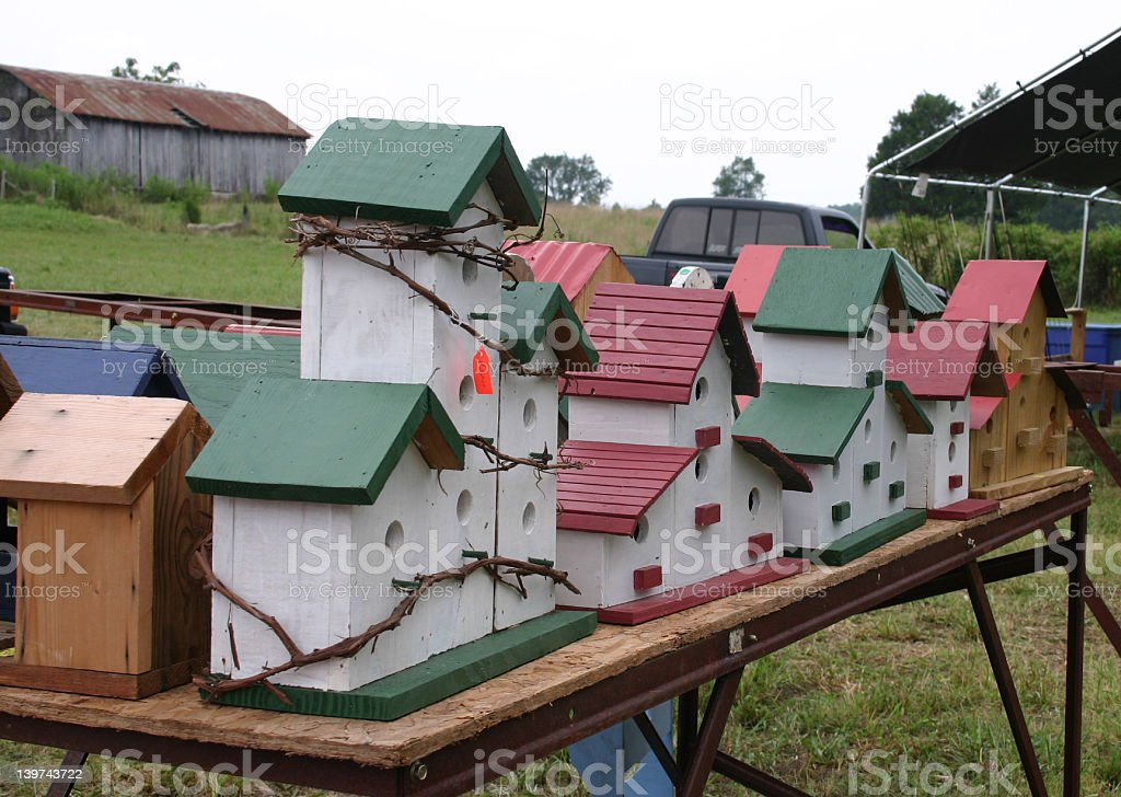 Birdhouses for sale royalty-free stock photo