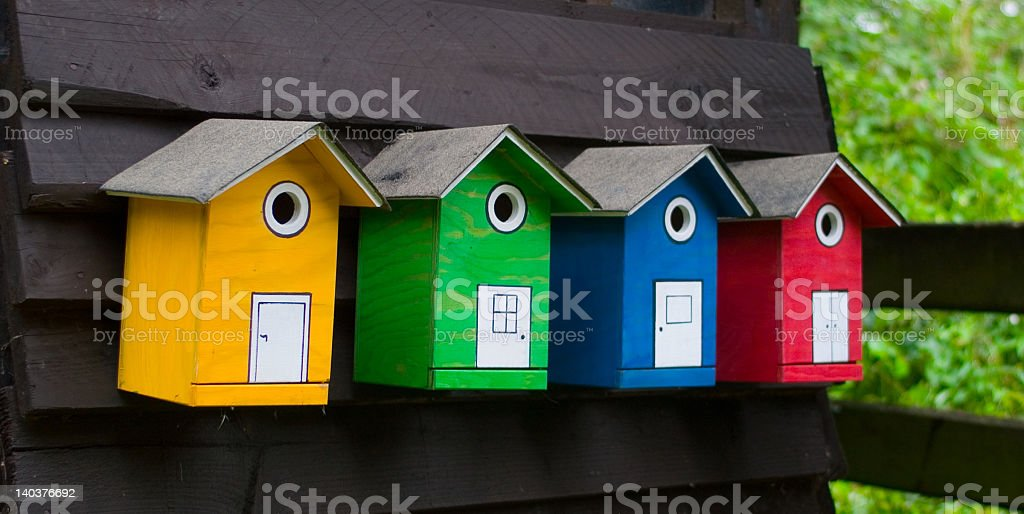 birdhouses royalty-free stock photo