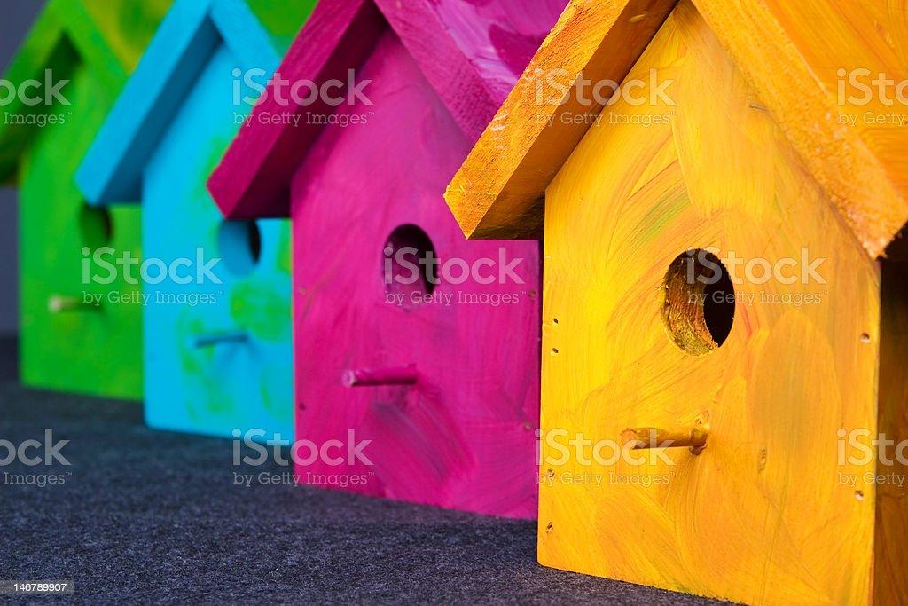 Birdhouses royalty-free stock photo