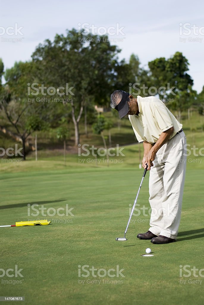 Birdie Putt royalty-free stock photo