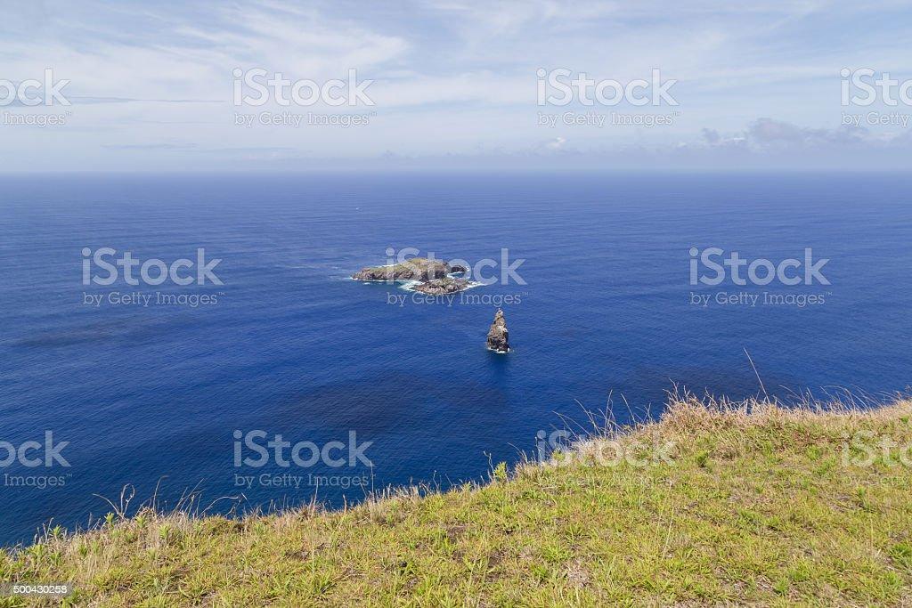 Birdman Islands, Easter Island stock photo