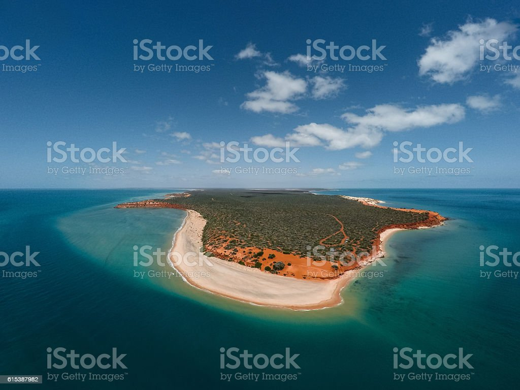 Birds Eye View Of Cape Peron stock photo