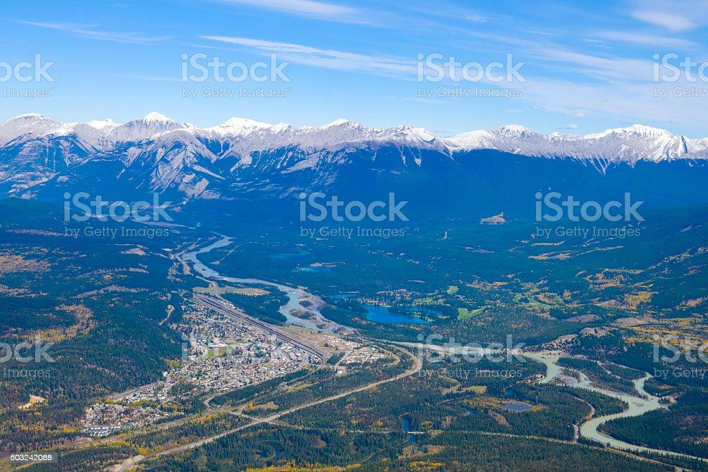 Bird's eye view of Jasper stock photo