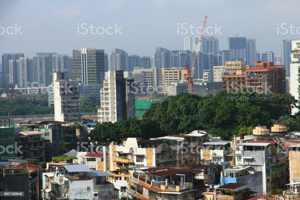 Bird's Eye View of Macau stock photo