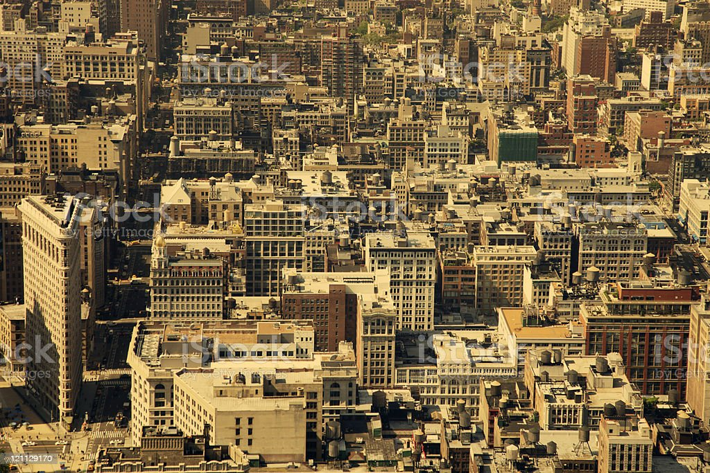bird's eye view of manhattan royalty-free stock photo