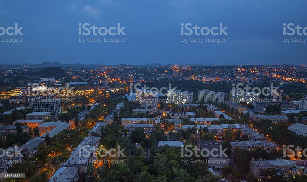 Birds eye view of the city royalty-free stock photo
