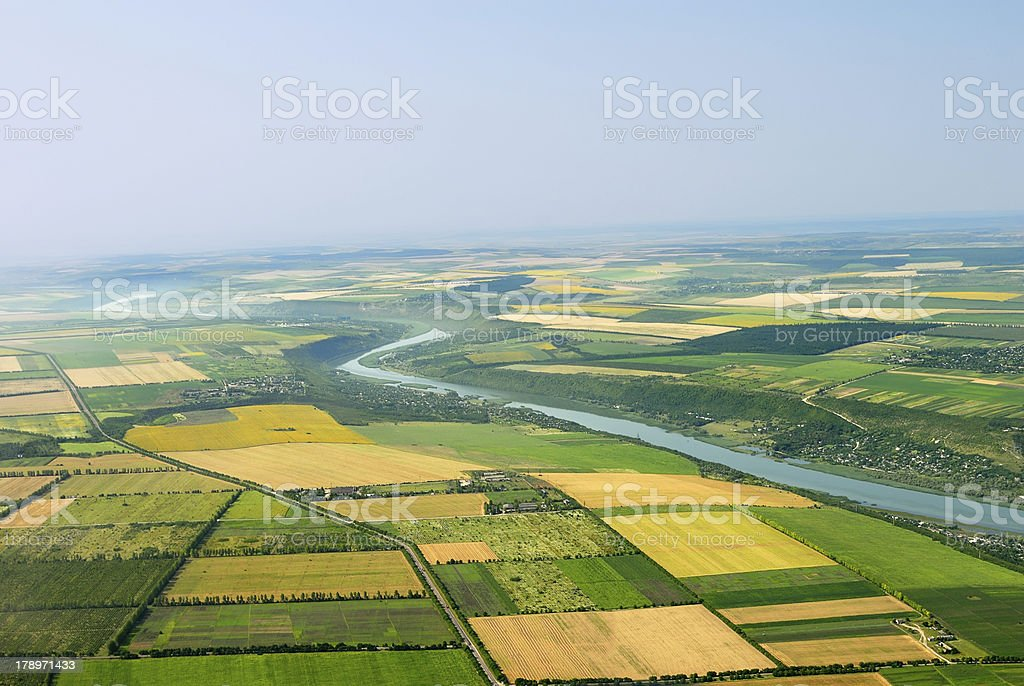 birds eye view of the earth stock photo