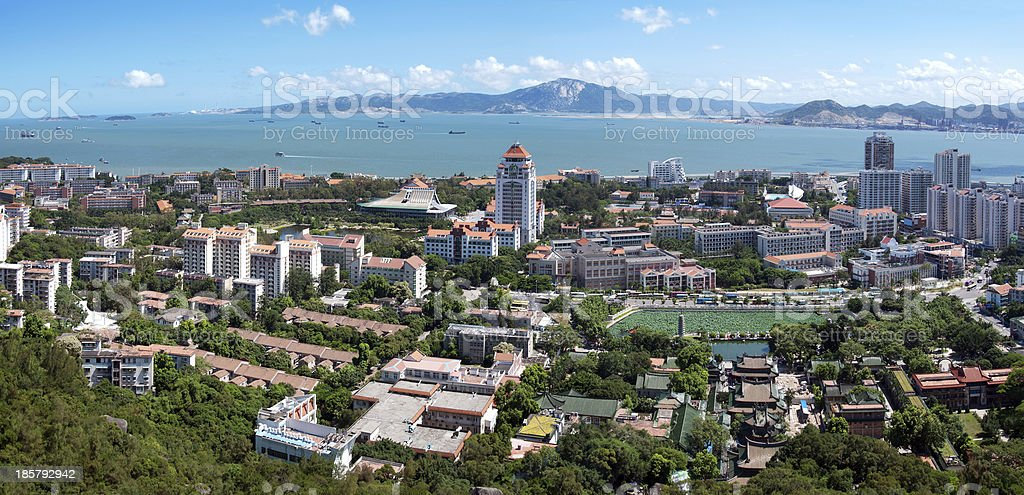 Bird's eye view of Xiamen, China royalty-free stock photo