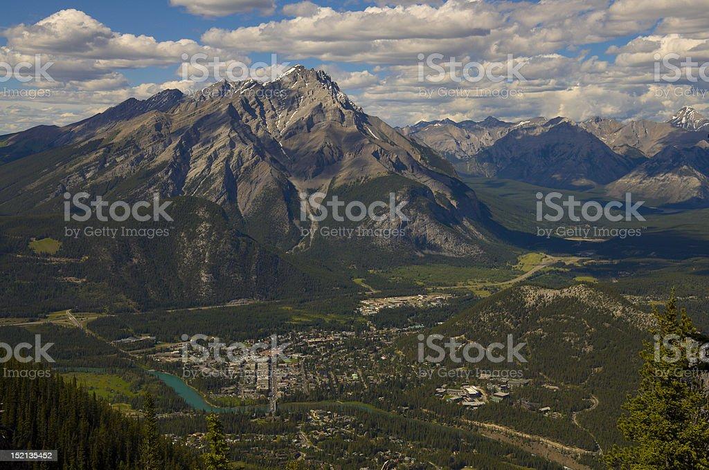 Bird's eye view, town of Banff royalty-free stock photo