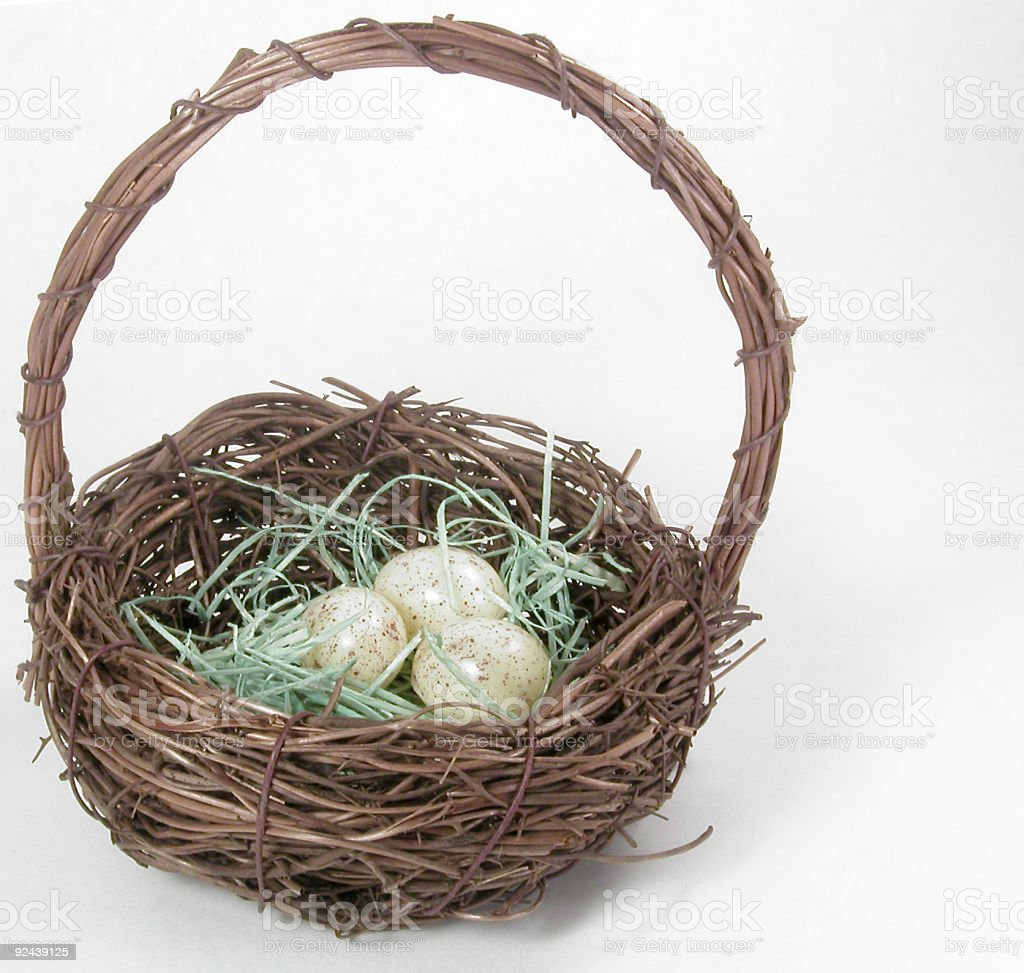 Bird's Nest Basket royalty-free stock photo