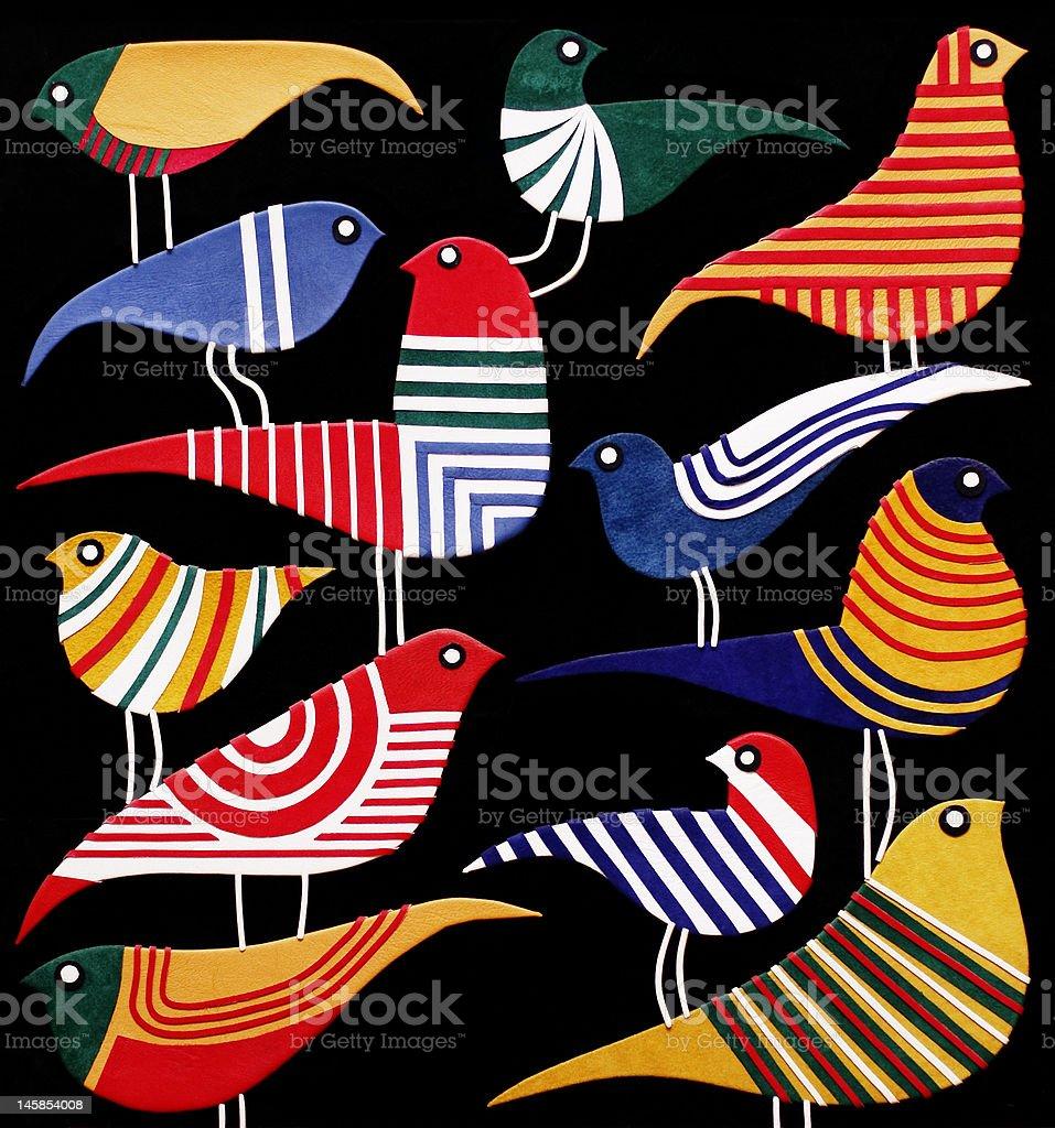 Birds pattern royalty-free stock photo