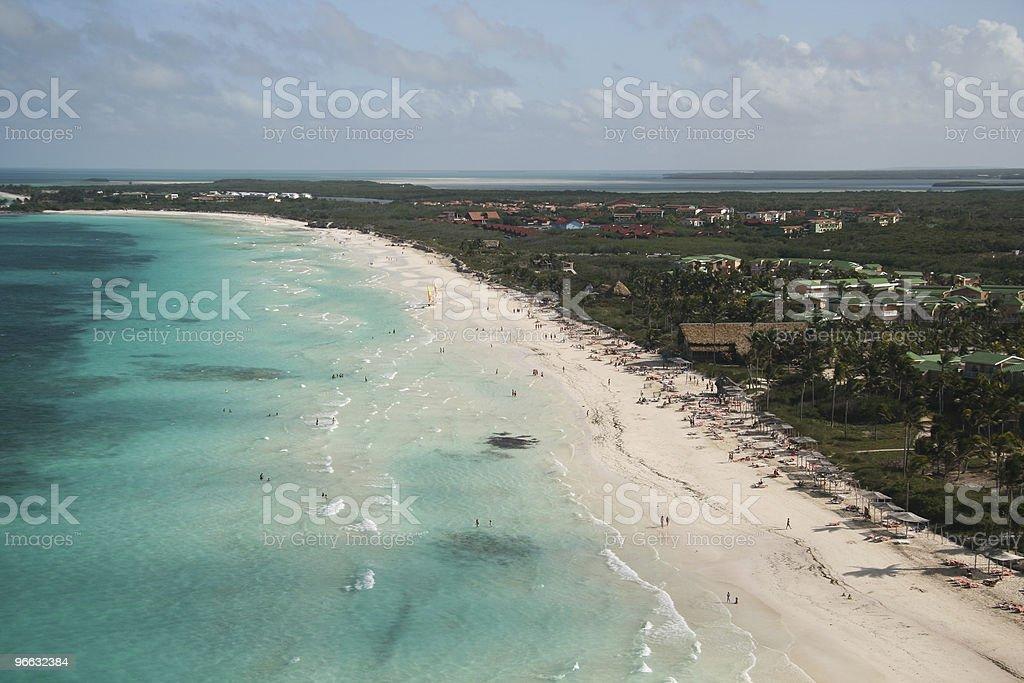 Bird's view on atlantic coast stock photo