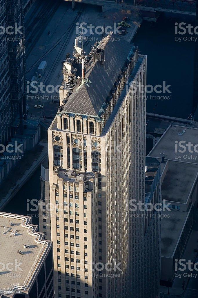 Birdseye View of Chicago Skyscraper royalty-free stock photo