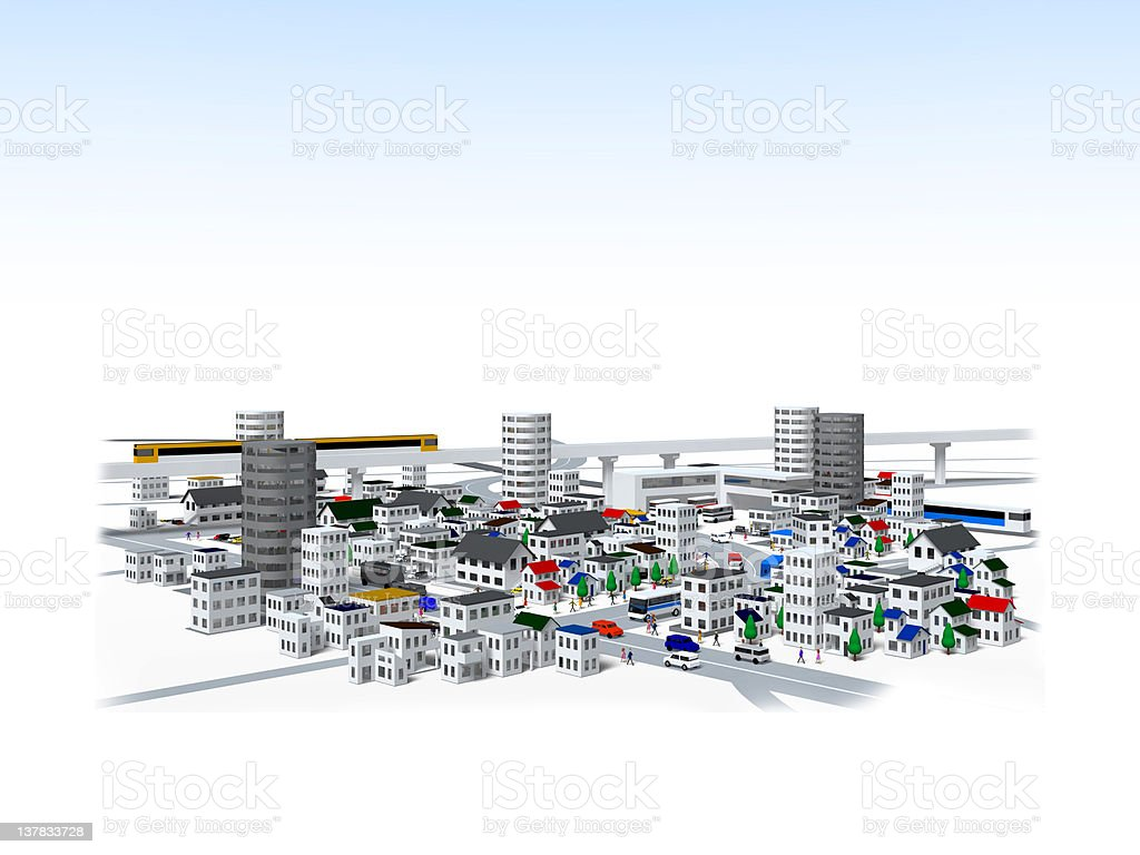 Bird's-eye view of the city royalty-free stock photo