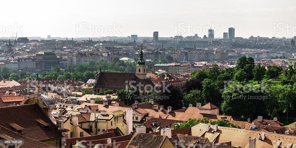 bird's-eye view on the Prague stock photo