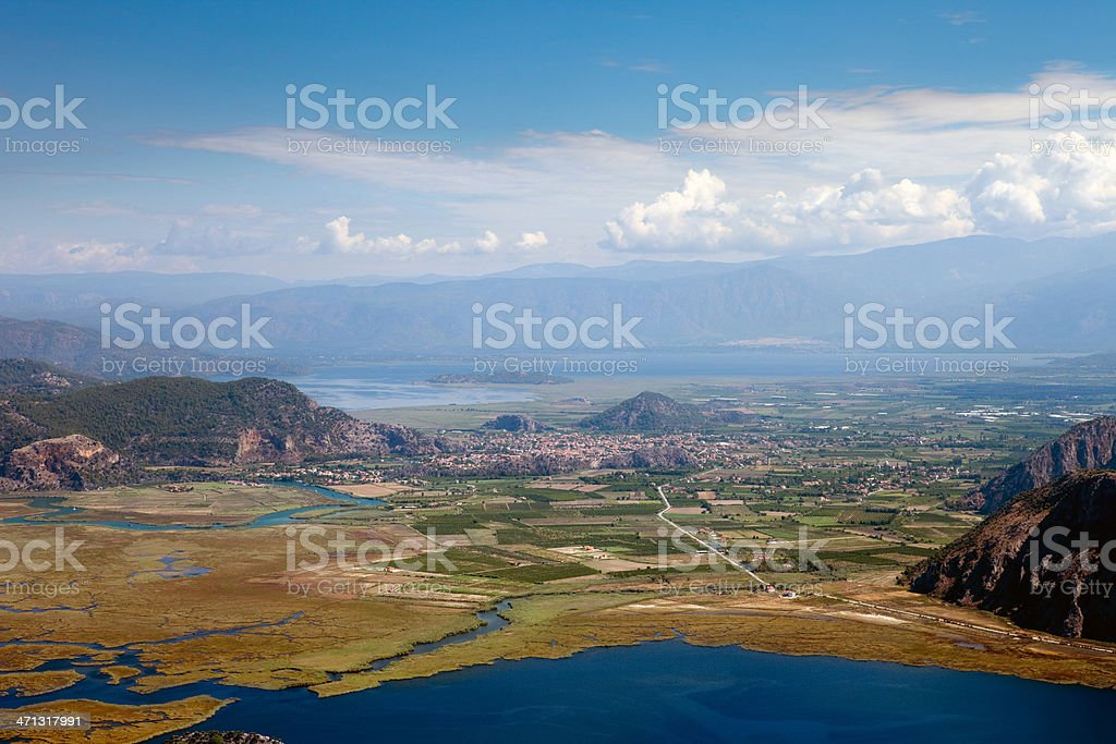 Bird's-eye view's of Dalyan and Delta stock photo