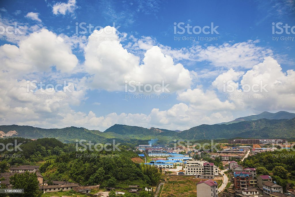 birdview of zixi county stock photo