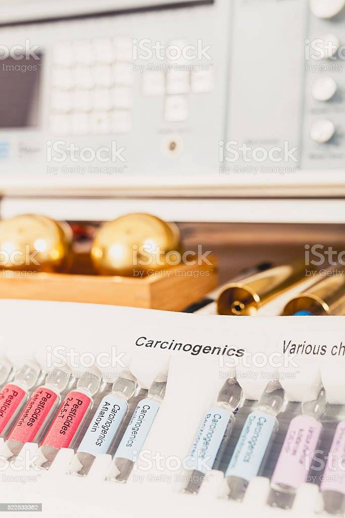 Biresonance therapy carcinogens stock photo