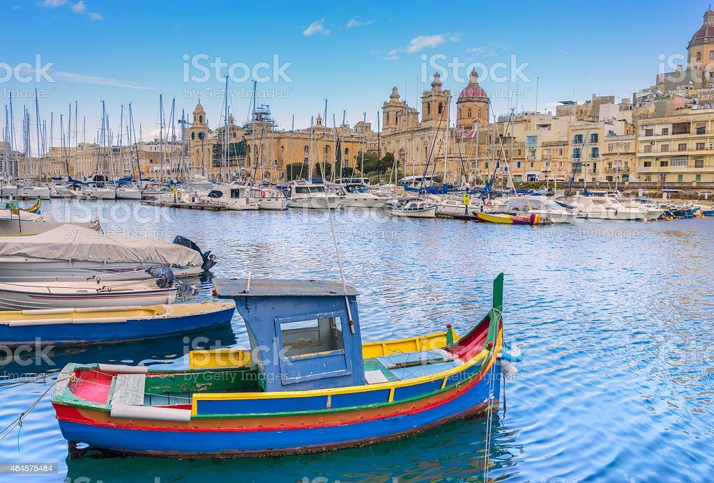 Birgu Marina Valletta stock photo