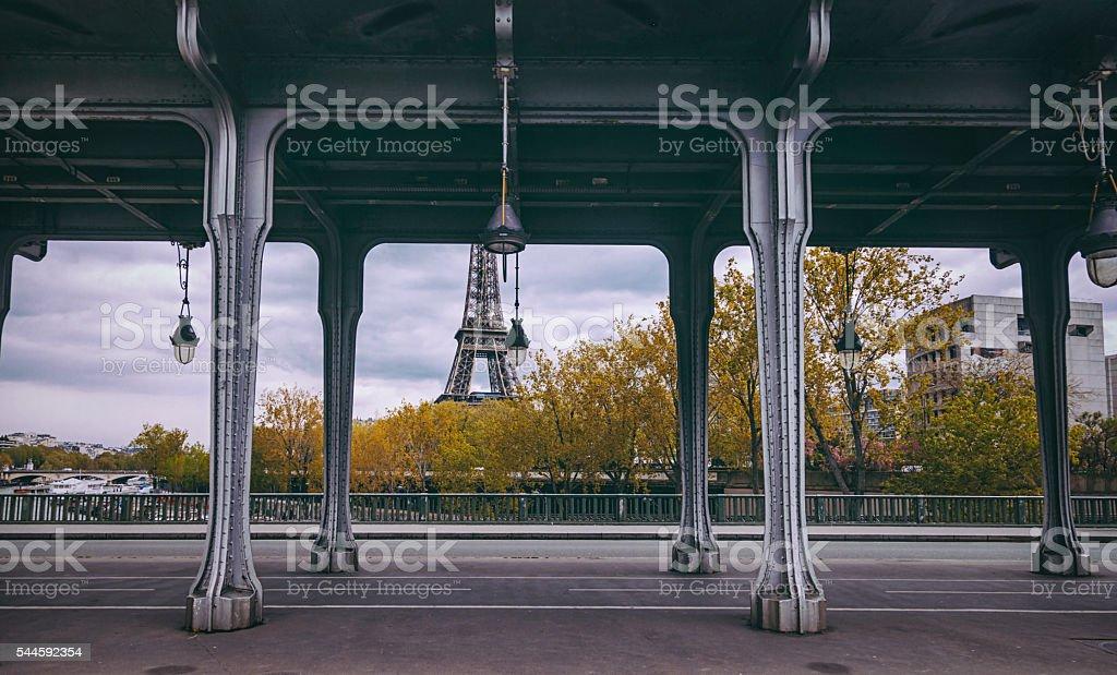 Bir-Hakeim Bridge in Paris France stock photo