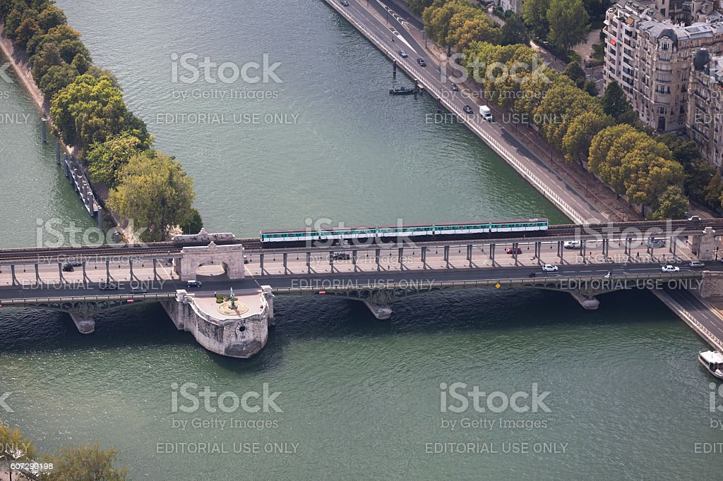 Pont Bir-Hakeim stock photo