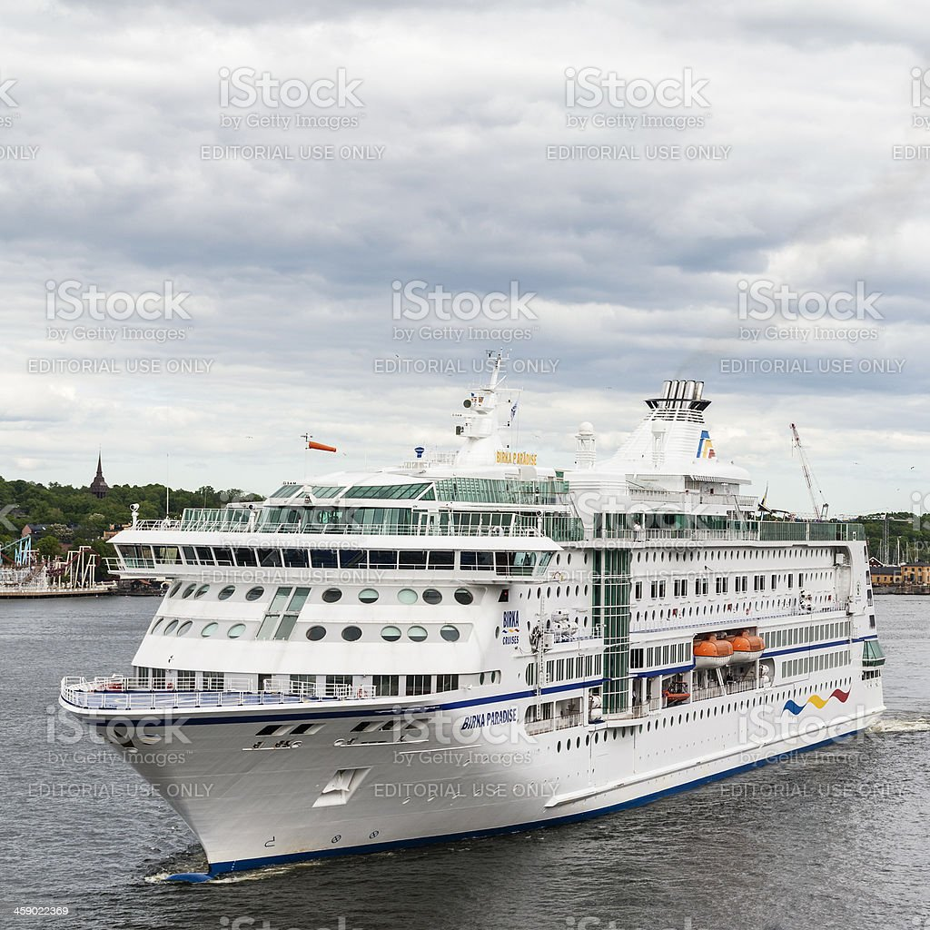 Birka Paradise Cruise Ship - Sweden royalty-free stock photo
