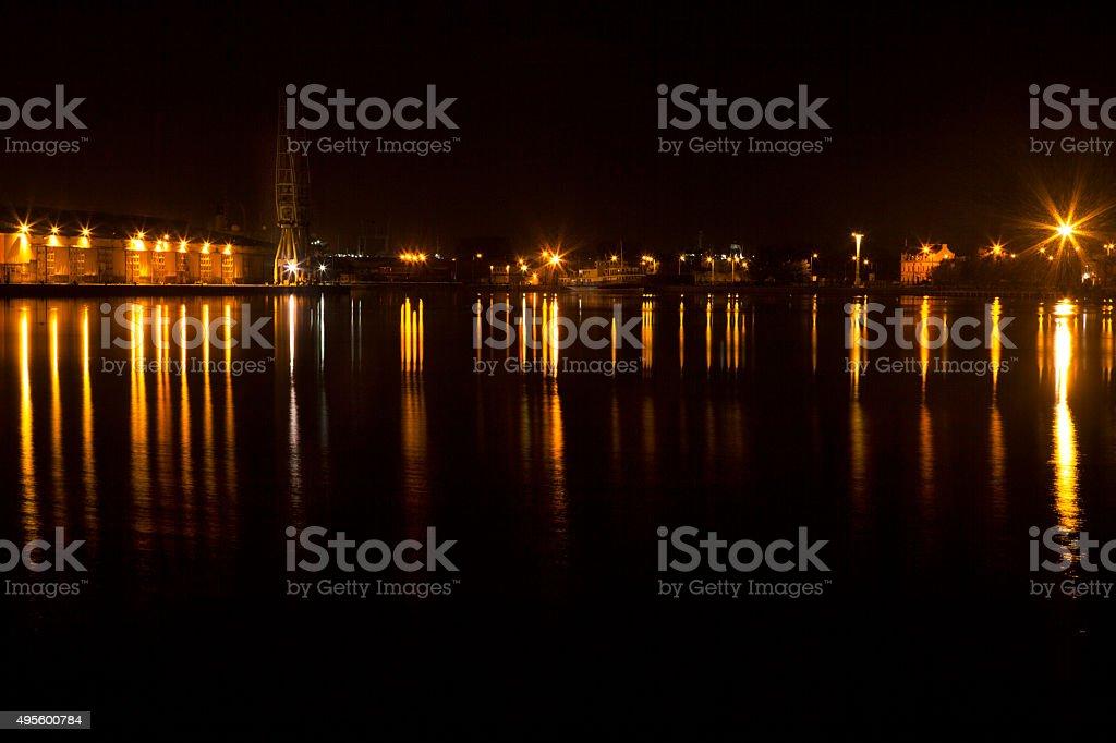 Birkenhead Dock Reflections stock photo
